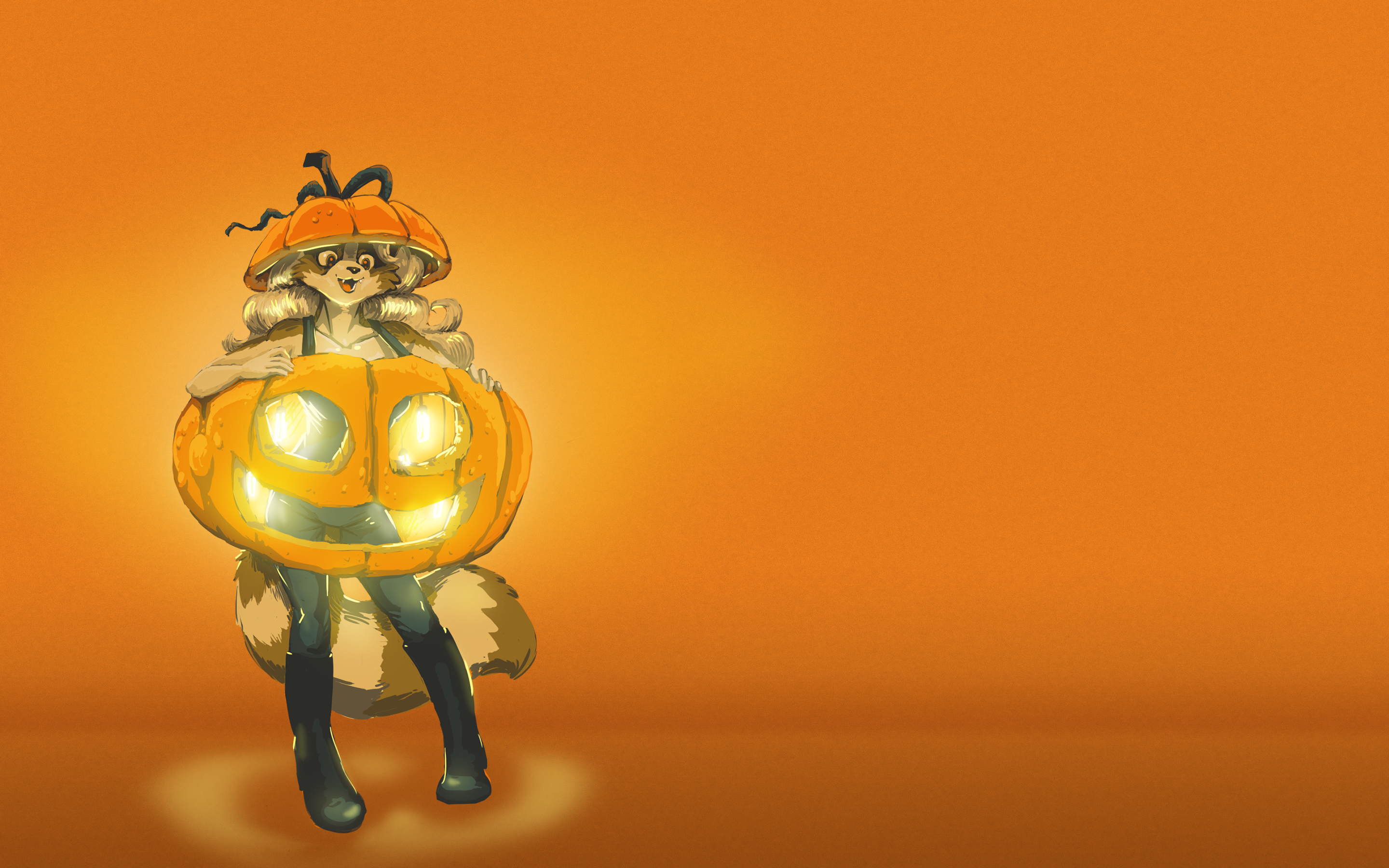 16th (wow)  Annual Quinn Halloween Wallpaper by Spike!